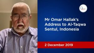 Mr Omar Hallak's Address to Al-Taqwa Sentul, Indonesia
