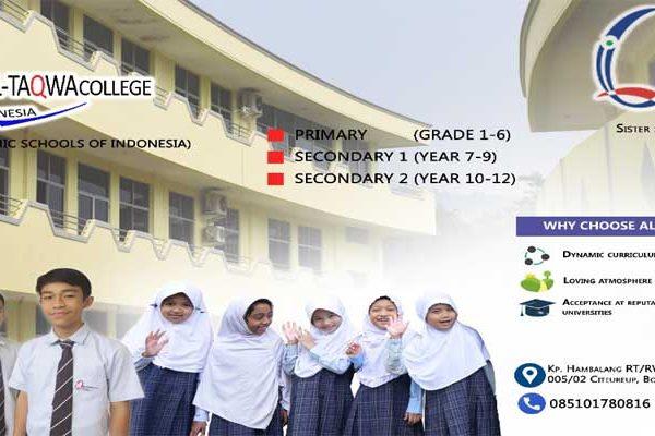 Brosur Al-Taqwa College Indonesia